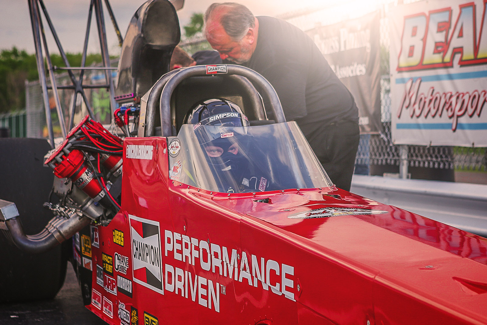 Kyle Michalek Races the Champion Spark Plugs Dragster to Runner-Up Finish in NHRA A/fuel Dragster Debut