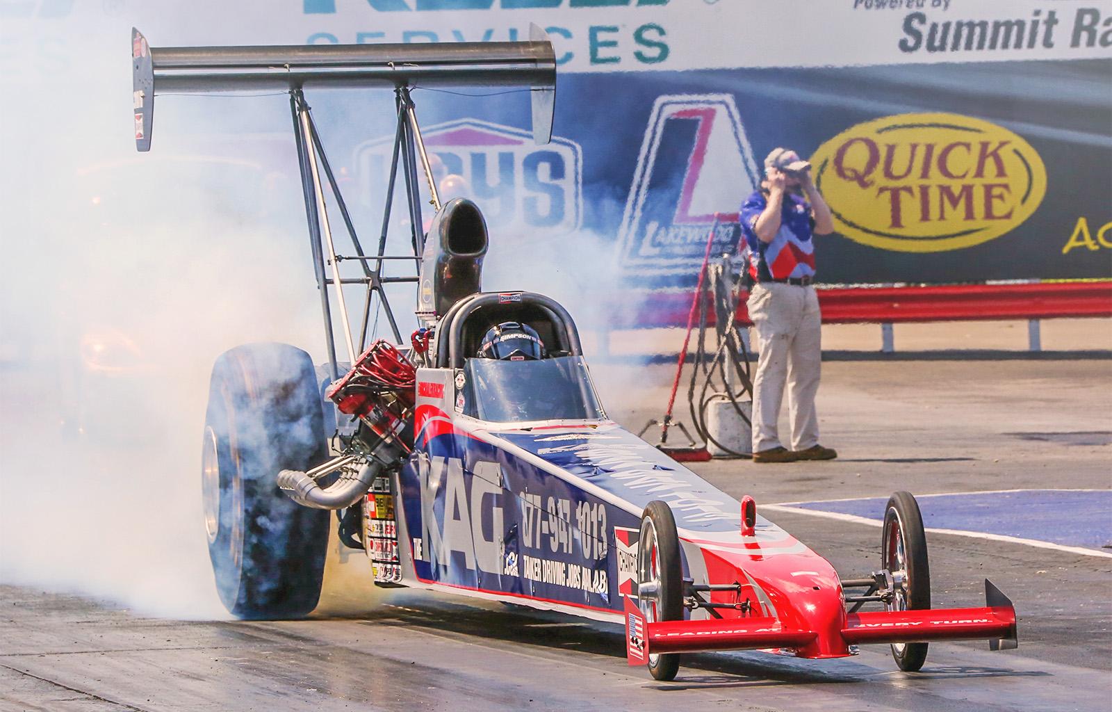 Summit Motorsport Park racing fans will see the Kenan Advantage Group A/fuel dragster on track for the second time in 2014.