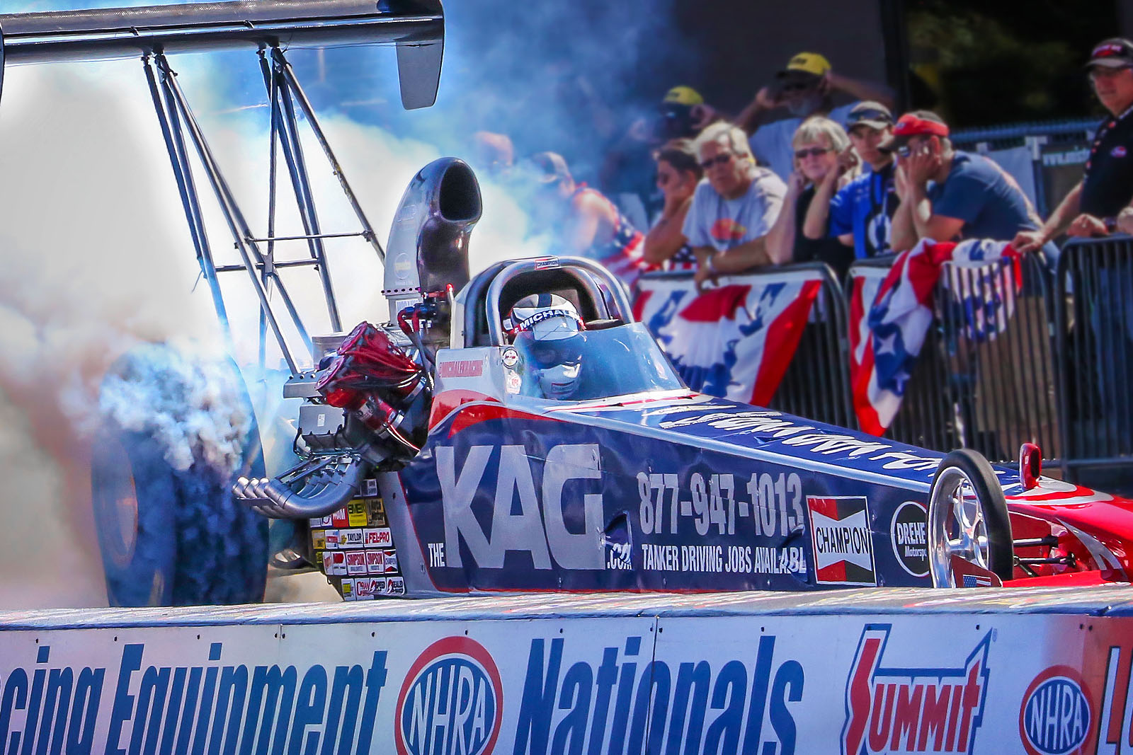 Corey Michalek Qualifies the KAG A/fuel Dragster into Stout Norwalk Field