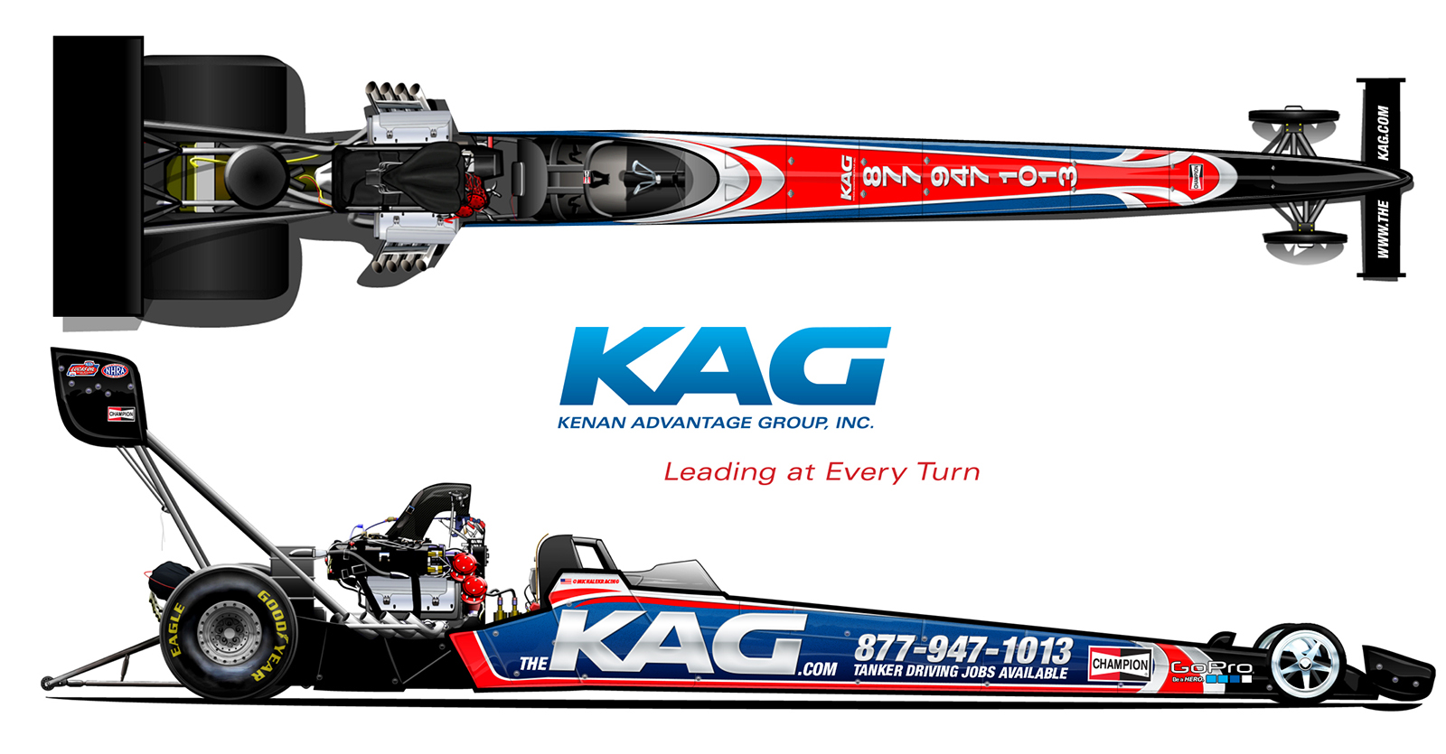 Michalek Brothers Racing will campaign the KAG A/fuel dragster, prepared by Dreher Motorsports, at 3 stops on the 2015 NHRA tour.