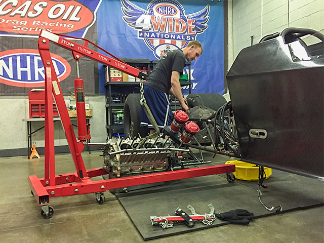 Michalek Brothers Racing has begun disassembling their Spitzer Enterprises A/fuel dragster in preparation for a 2016 debut.