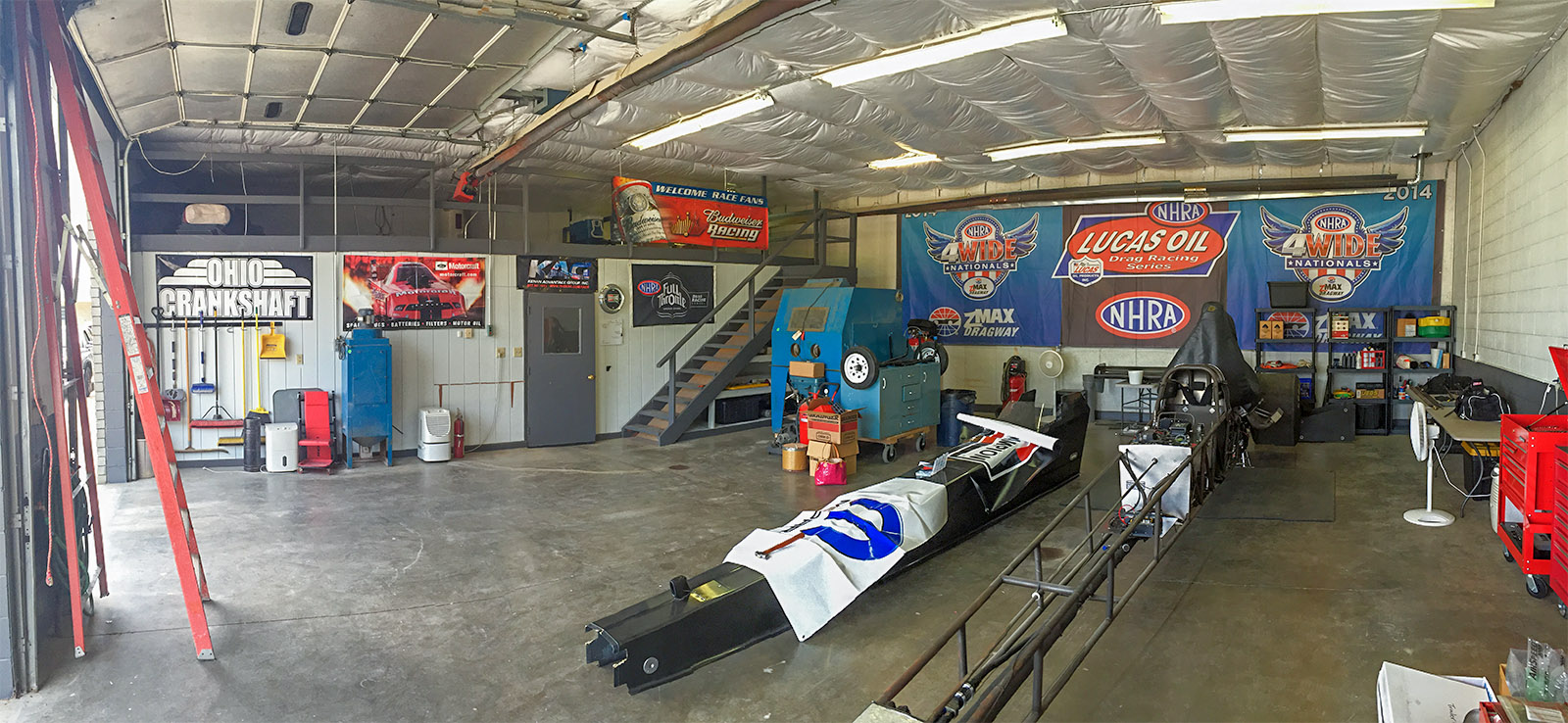 Along with purchasing and beginning work on the new car, Michalek Brothers Racing has been busy setting up a new centrally located race shop.