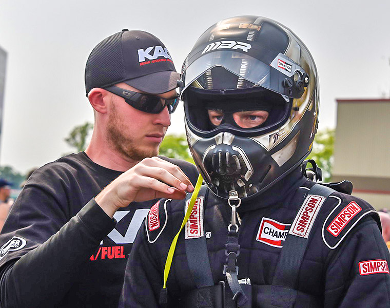 Since becoming licensed NHRA Top Alcohol Dragster pilots, Michalek Brothers Racing has 1 win, 2 runner-ups, and a semi-final finish in only 8 appearances. (Photo credit: David Smith)