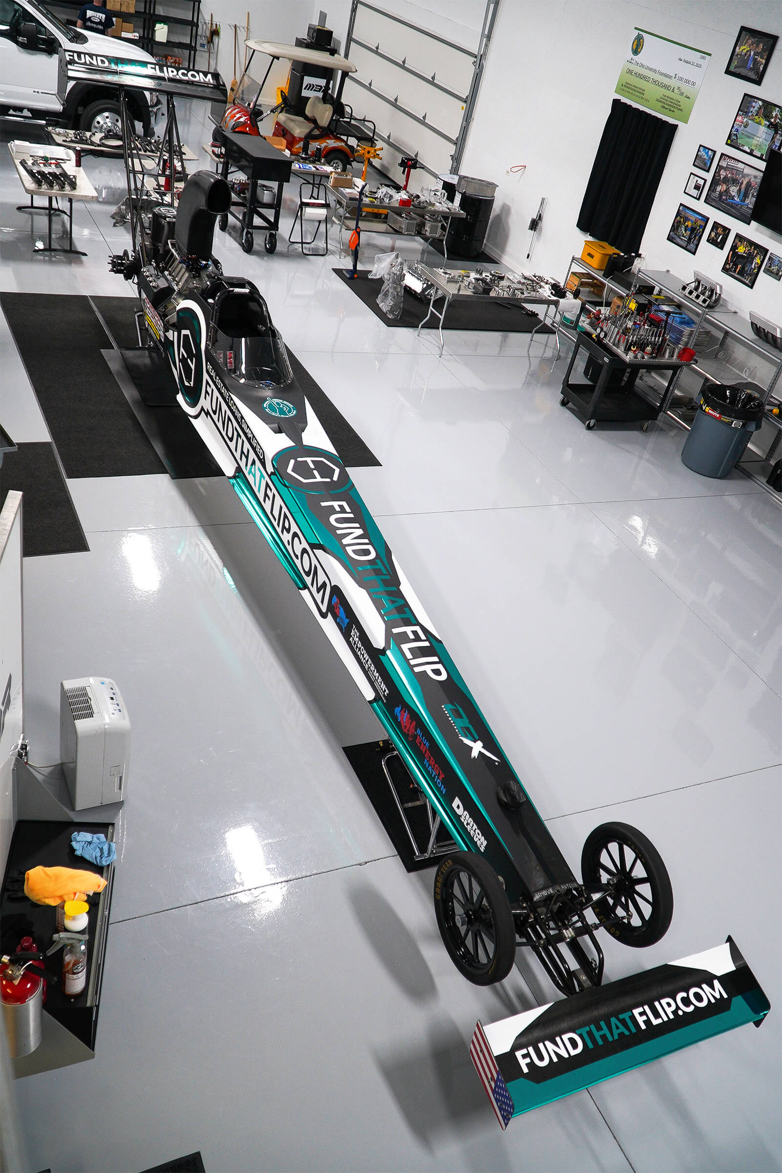 The Fund That Flip A/fuel dragster will compete in Indianapolis, Indiana during the weekend of September 4-6, and in Charlotte, North Carolina during the weekend of September 18-20.